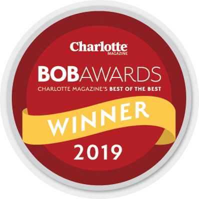 2019 best facial plastic surgeon BOB award logo from Charlotte Magazine