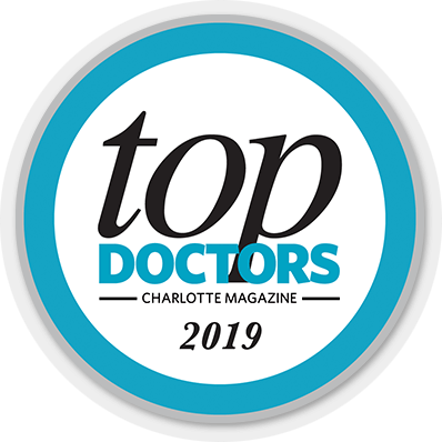 2019 top doctor logo from Charlotte Magazine's 2019