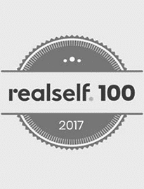 Realself logo for their top 100 hall of hame award present to Dr. Kulbersh in 2017