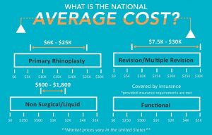 The average cost of a rhinoplasty in the United States infographic for our Charlotte, NC Office