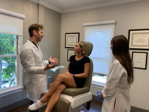 Botox consultation with female patient in Charlotte clinic