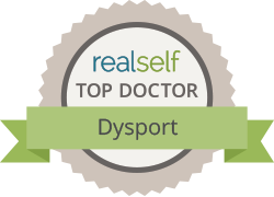 Dr. Kulbersh received a realself top doctor award for dysport injections