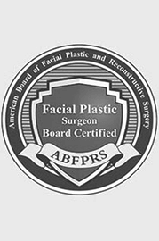 The American Board of Facial Plastic Surgery certified logo for Dr. Kulbersh of Charlotte, NC