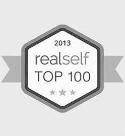 logo RealSelf por su parte superior 100 Premio del Salón de Hame presente al Dr.. Kulbersh en 2013