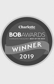 logotipo de Charlotte Revista para el mejor de los mejores ganado el premio por el Dr.. Kulbersh's plastic surgery clinic.