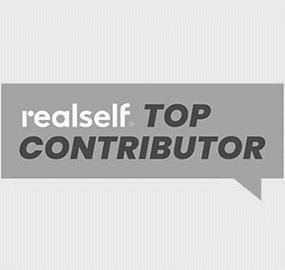 Realself top contributor logo for Dr. Kulbersh's plastic surgery clinic in Charlotte, NC.